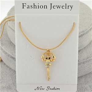 Necklace pendent IRIS rhinestone strass chain snake l40-45cm new collection 71853