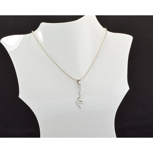 Necklace Pendant Brushed steel Shiny 61097