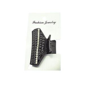 New Collection Black & Strass Hair Clip L6.5cm 71955