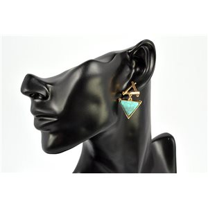 Earrings Rhinestones and Turquoise Jewelry nail-fastening 72334