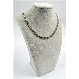 Collier Chaine en Acier inoxydable L50cm Steel Color New Collection 72756