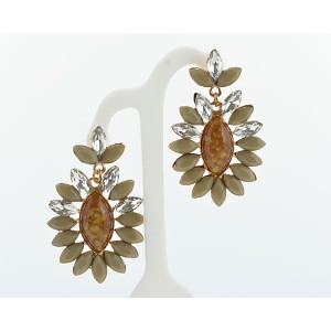 1p Earrings Pearls and Strass Collection 62692