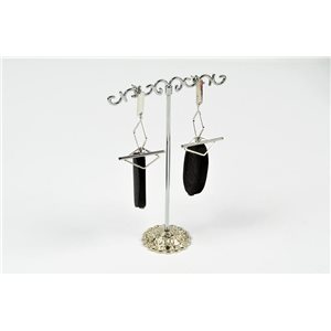 1p Earrings Nail Earrings Silver Color Collection Graphika 73179