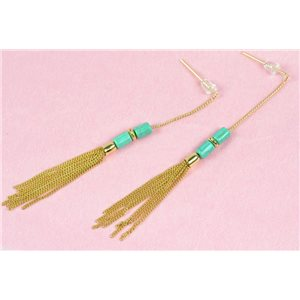 1p Earrings Metal Earrings Color Gold Nail Engineered Stone Collection MilaLina 73190