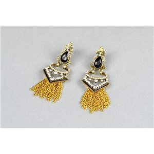 1p Boucles Oreilles à Clou serti de Strass Collection ATHENA 73429