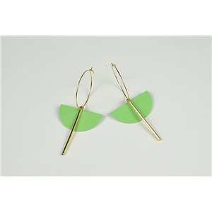 1p Earrings Ear Studs Metal Color Gold Collection Graphika 73468