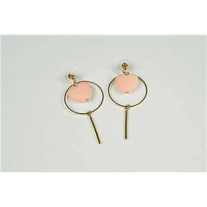 1p Earrings Earrings with Nail metal color Gold Collection Graphika 73470