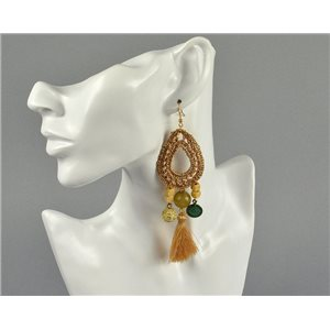 1p Earrings Pearls and Pompons Collection 2018 Ethnic Chic 73922