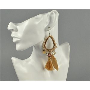 1p Earrings Pearls and Pompons Collection 2018 Ethnic Chic 73926