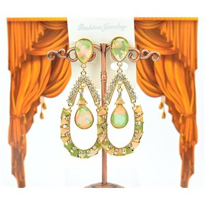 1p Boucles Oreilles à clou sertie de Strass Collection ATHENA 8cm 75216