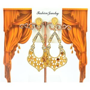 1p Boucles Oreilles à clou sertie de Strass Collection ATHENA 8cm 75219