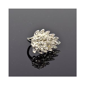 New Collection Adjustable Metal Ring Set with Silver Color Rhinestones 75658