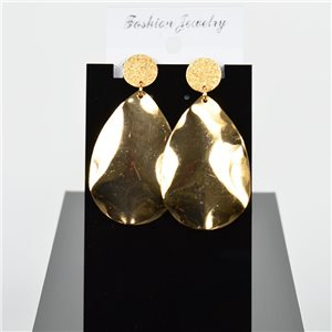 1p Earring Drop Earrings 6cm Metal Gold Color New Graphika Style 75718