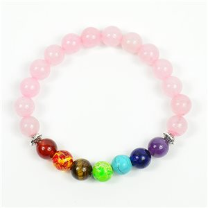 Bracelet Porte Bonheur 7 Chakras en Pierre Naturelle New Collection 75784