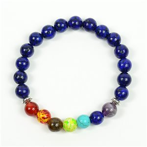 Bracelet Porte Bonheur 7 Chakras en Pierre Naturelle New Collection 75786