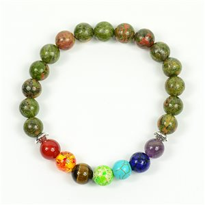 Bracelet Porte Bonheur 7 Chakras en Pierre Naturelle New Collection 75791