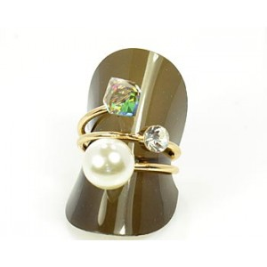Rhinestones Adjustable Ring New Style Full Rhinestone 65598