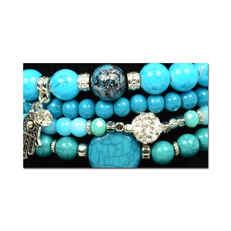 Bracelet CYBELE Cuff 4 Ranks Collection Bead Charms and Jewelry on Elastic Wire New Collection 76003