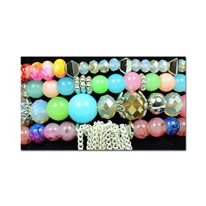 Bracelet CYBELE Cuff 4 rows Collection Bead Charms and Jewelry on elastic thread New Collection 76002