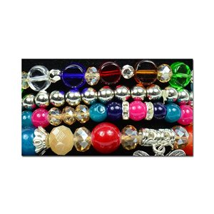 Bracelet CYBELE Manchette 4 rangs Collection Bead Charms et Bijoux sur fil élastic New Collection 75991