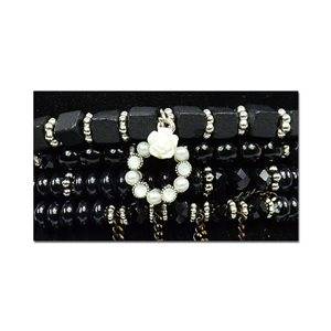 Bracelet CYBELE Cuff 4 rows Collection Bead Charms and Jewelry on elastic thread New Collection 75995