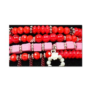 Bracelet CYBELE Cuff 4 Ranks Collection Bead Charms and Jewelry on Elastic Wire New Collection 75996
