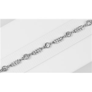 Bracelet métal Silver Color serti de Strass L19 cm The Best Collection Chic 76015
