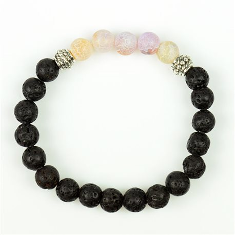 Tibetan Bracelet in Natural Stone Collection 5 Upper Chakras 76130