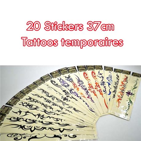Show Room - 20 Blisters de Tattoos XXL temporaires 76154