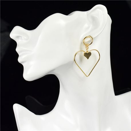 1p Earring Drop Earrings metal nail color GOLD New Graphika Style 76065