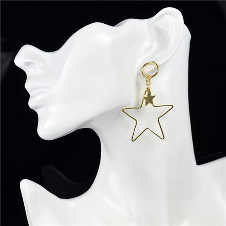 1p Earring Drop Earrings metal nail color GOLD New Graphika Style 76068