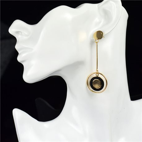 1p Earring Drop Earrings metal nail color GOLD New Graphika Style 76080