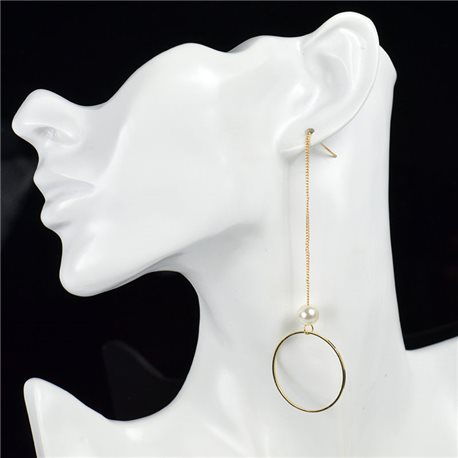 1p Earring Drop Earrings metal nail color GOLD New Graphika Style 76095