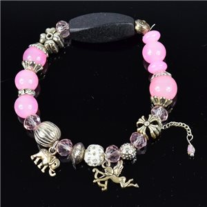 Bracelet CYBELE Bijoux Bead Charms sur fil élastic New Collection 76132