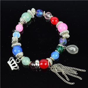 Bracelet CYBELE Bijoux Bead Charms sur fil élastic New Collection 76141