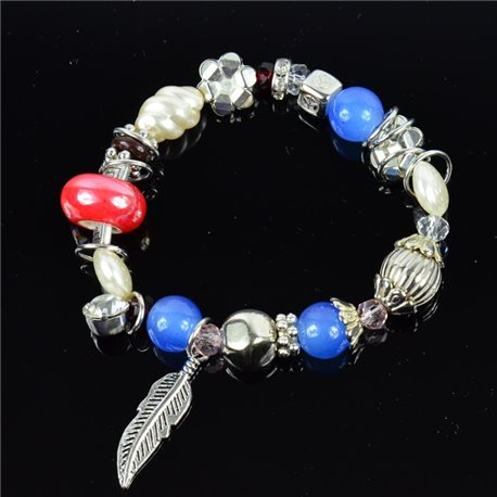 Bracelet CYBELE Jewelry Bead Charms on Elastic Wire New Collection 76145