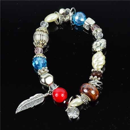 Bracelet CYBELE Jewelry Bead Charms on Elastic Wire New Collection 76146