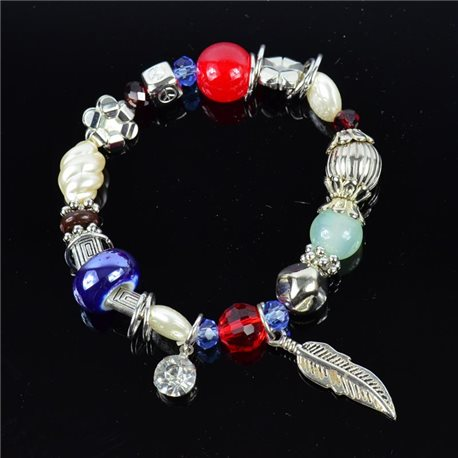 Bracelet CYBELE Bijoux Bead Charms sur fil élastic New Collection 76150