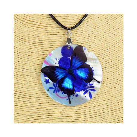 Pendant necklace 5 cm Natural Mother of Pearl Fashion Design L48cm New Collection 76184
