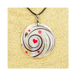 Pendant necklace 5 cm Natural Mother of Pearl Fashion Design L48cm New Collection 76192