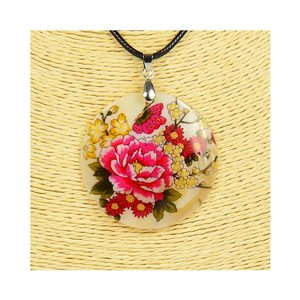 Pendant necklace 5 cm Natural Mother of Pearl Fashion Design L48cm New Collection 76200