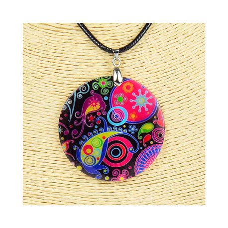 Pendant necklace 5 cm Natural Mother of Pearl Fashion Design L48cm New Collection 76232