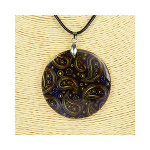 Pendant necklace 5 cm Natural Mother of Pearl Fashion Design L48cm New Collection 76233