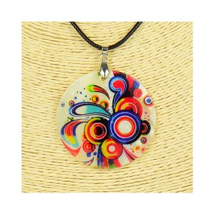 Pendant necklace 5 cm Natural Mother of Pearl Fashion Design L48cm New Collection 76243