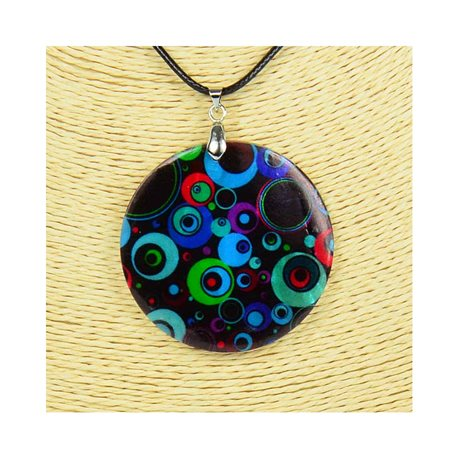 Pendant necklace 5 cm Natural Mother of Pearl Fashion Design L48cm New Collection 76244