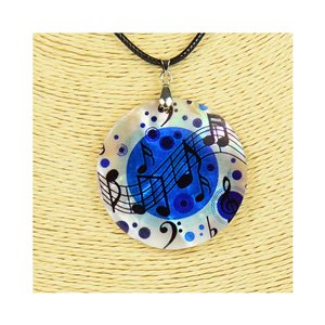 Pendant necklace 5 cm Natural Mother of Pearl Fashion Design L48cm New Collection 76247