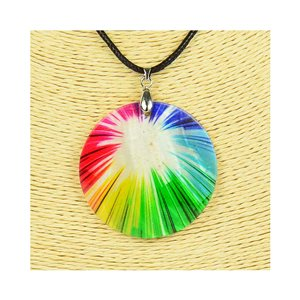 Collier Pendentif 5cm en Nacre naturelle Fashion Design L48cm New Collection 76250