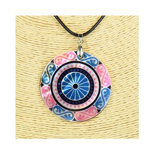 Pendant necklace 5 cm Natural Mother of Pearl Fashion Design L48cm New Collection 76257