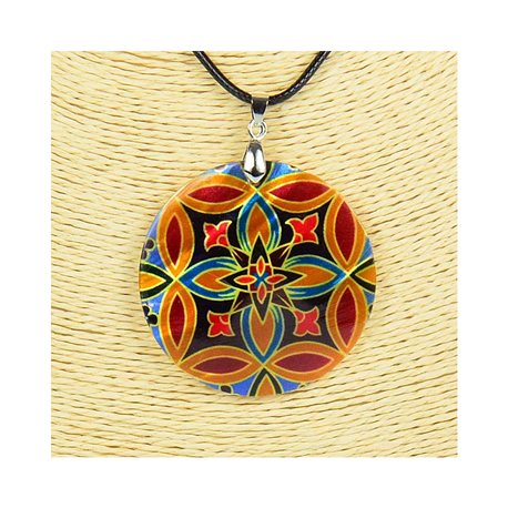 Pendant necklace 5 cm Natural Mother of Pearl Fashion Design L48cm New Collection 76259