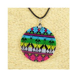 Collier Pendentif 5cm en Nacre naturelle Fashion Design L48cm New Collection 76261